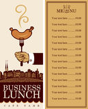 Menu for business lunch stock illustration