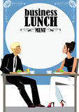 Menu for business lunch, people at  lunch. Vector illustration of image menu for business lunch, people at  lunch Stock Image