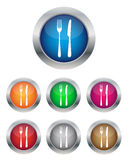 Menu buttons. Collection of menu buttons in various colors Royalty Free Stock Photos