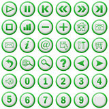 Menu buttons. A selection of 36 menu buttons royalty free illustration
