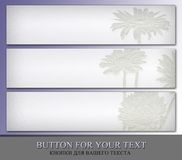 Menu buttons for your text. Royalty Free Stock Photo