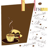 Menu for cafe Stock Images