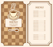 Menu for cafe Stock Photography