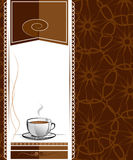 Menu for cafe, bar, restaurant, coffeehouse. Background illustrations Royalty Free Stock Photography