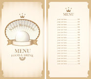 mEnu for a cafe or restaurant Royalty Free Stock Photos