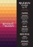 Menu cafe restaurant, template placemat. Food board design. Stock Images