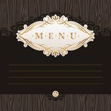 Menu with calligraphic decorative frame Royalty Free Stock Photography