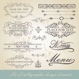 Menu calligraphic design element Royalty Free Stock Images