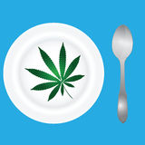 Menu with cannabis Stock Photos