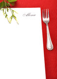 Menu card. Empty menu card on red mat Royalty Free Stock Photography