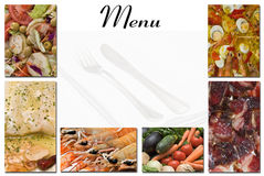 Menu card. Royalty Free Stock Photos