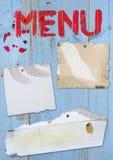menu card Royalty Free Stock Image