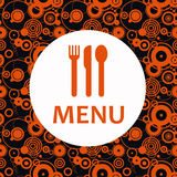 Menu card. In stylish black and orange tones Stock Image
