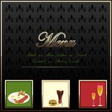 Menu Card. Easy to edit vector illustration of restaurant menu card stock illustration
