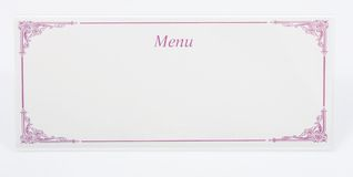 Menu card Stock Photos