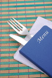 Menu card Stock Image