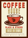 Menu card, brochure or flyer for Coffee House. Royalty Free Stock Photo
