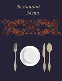 Menu Card Design Royalty Free Stock Photography