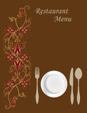 Menu Card Design Stock Images