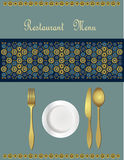Menu Card Design Stock Photo