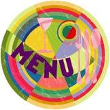 Menu card design Stock Image