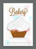 Menu card design for bakery. Stock Images