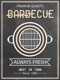Menu card design for barbecue. Royalty Free Stock Photography