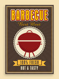 Menu card design for barbecue. Royalty Free Stock Photos