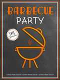Menu card design for barbecue party. Royalty Free Stock Photography