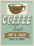 Menu card design for Coffee House. Stock Photography
