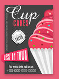 Menu card design for cupcakes. Royalty Free Stock Image