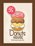 Menu card design for donuts house. Stock Photos
