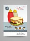 Menu Card design for Fast Food Corner. Royalty Free Stock Image