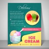 Menu card design for ice cream parlour. Royalty Free Stock Photos