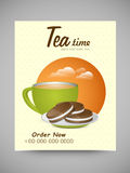 Menu Card design for Tea Time. Stock Images