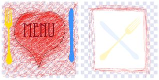 Menu card design template, Royalty Free Stock Images