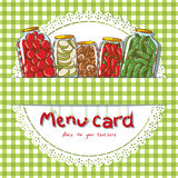 Menu Card Design Template Royalty Free Stock Images