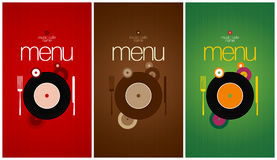 Menu Card Design template. Stock Photos