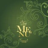 Menu Card Design template. Stock Photo