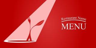 Menu card design. Vector illustration of Menu card design with spoon and fork stock illustration