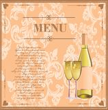 Menu card for drinks Stock Photos