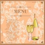 Menu card for drinks Stock Photos