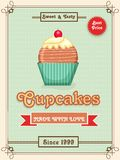 Menu card, flyer or brochure for cupcakes. Royalty Free Stock Photo
