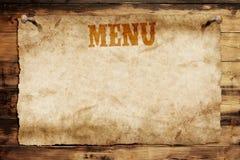 menu card Stock Images