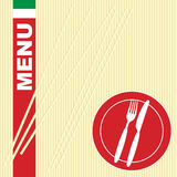 Menu Card - Pasta royalty free illustration