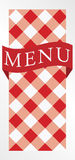 Menu Card - Red Gingham Royalty Free Stock Photos