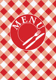 Menu Card - Red Gingham Stock Image