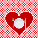 Menu card with red heart Stock Image
