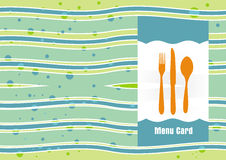 Menu Card template Royalty Free Stock Image