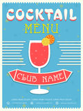 Menu card, template or brochure design for Cocktail. Royalty Free Stock Photo